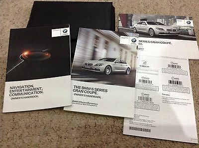 BMW 6 SERIES GRAN  COUPE OWNERS MANUAL HANDBOOK 2014-2017  covers navigation