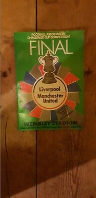 Liverpool Vs Manchester United Fa  Challenge Cup Final Saturday 21St May 1977