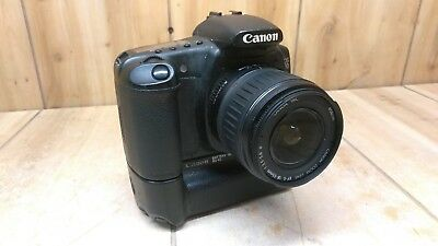 Canon EOS 20D DSLR Camera w/ EF-S 18-55mm f/3.5-5.6 II & Battery Grip *UNTESTED*