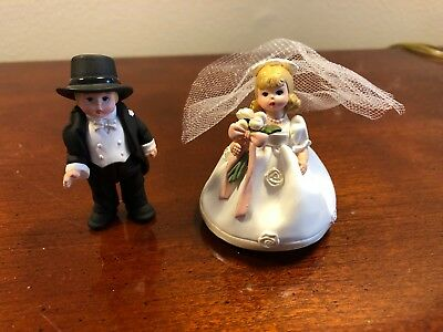 Hallmark Merry Miniatures Madame Alexander bride and groom