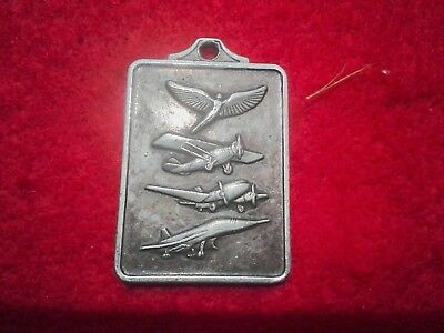 Vintage Gulf Flying Service key Fob Houston Texas avation Airplane jet wings