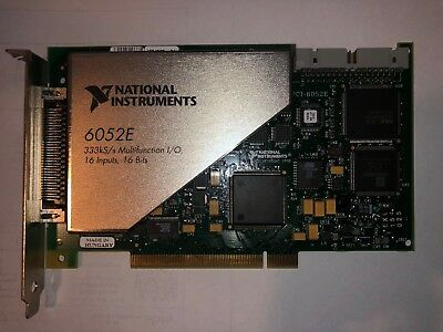 National Instruments PCI-6052E NI DAQ Card Analog Input Fully Functional