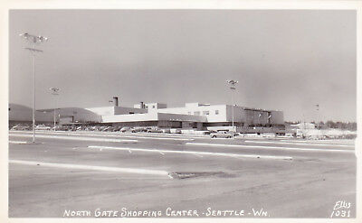 Northgate Mall Seattle Washington Real Photo Postcard 1950's RPPC