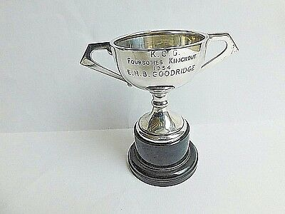 Antique `solid Silver Trophy `by F.fattorini & Sons - K.c.g Foursomes 1954