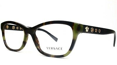 0ea19df3887b VERSACE WOMEN S GREEN Tortoise Glasses with case MOD 3225-A 5183 ...