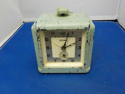 Vintage Antique FERRANTI ?? Bakelite ?? mantle Clock Made in England Art deco