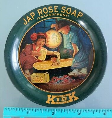 Jap Rose Soap Tip Tray Advertising Kids In Kimonos Give Dolly A Bath No Reserve!