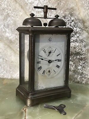 Vintage Mechanical Key Winding Up Double Bell Alarm Clock