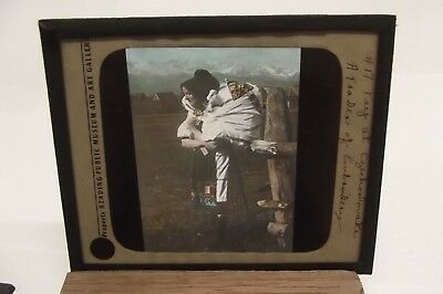 Czechoslovakia A Trader Of Embroidery Color Magic Lantern Slide Mm153