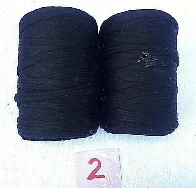 Vintage Macrame Cord  Black  Lot of 2