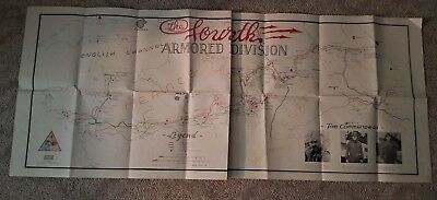 ORIGINAL 4TH ARMY DIVISION W.W.II MAP FRANCE & GERMANY 1945 ( see below)