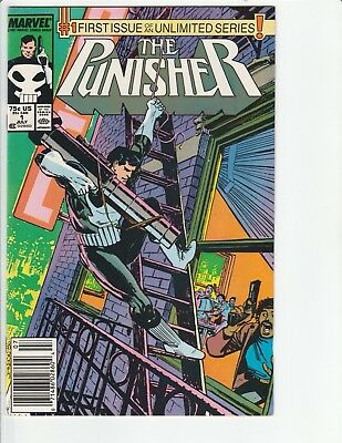 PUNISHER (1987) #1 NEWSSTAND Variant! 1ST Ongoing SERIES! KEY! MARVEL VF/NM Nice