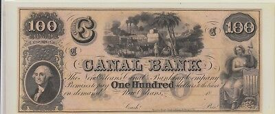 $100 Canal Obsolete Uncirculated 18Xx
