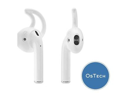 2 Pairs White Airpods Cover Earhooks Silicone Earbuds for Apple iPhone Airpods