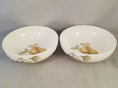 Set of 2 Mikasa Belle Terre Coupe Cereal Bowls