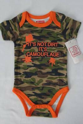 NEW Baby Boys Camo Bodysuit 6 - 9 Months Creeper Outfit Camouflage 1 Piece