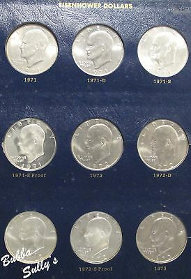 Complete Set of Eisenhower Dollars 1971-1978 w/Proofs in Whitman Classic Album