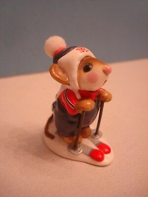 Wee Forest Folk Annette Petersen Skier Mouse SKI MOUSE c. 1979