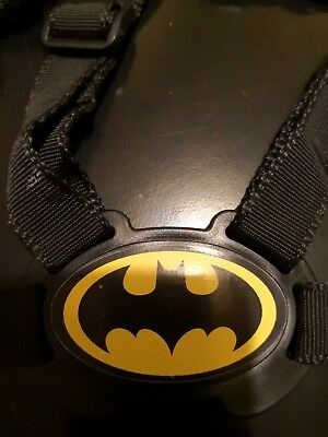 Baby and Toddler Walking Harness With Reins Child Safety (Black / batman symbol)