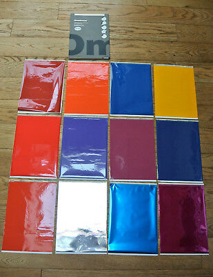 """OMNICROM Colour Transfer A4 FILM """"12 sheets"""" Graphic a few Foil from 1980s Hot"""