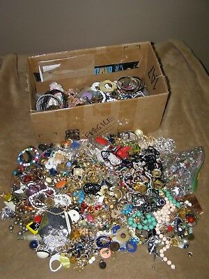 19+ lbs Pounds Vintage Junk Jewelry Lot for parts repair wear crafts jewelry lot