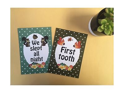Twin Baby Journey Cards - Forest Animals DD034