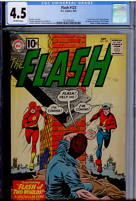 FLASH #123 - CGC Grade 4.5 - First Golden Age Flash in Silver Age! First Earth-2