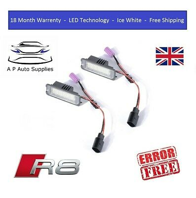 Audi R8 Canbus Compatible Number Plate Light Units 18 SMD LED