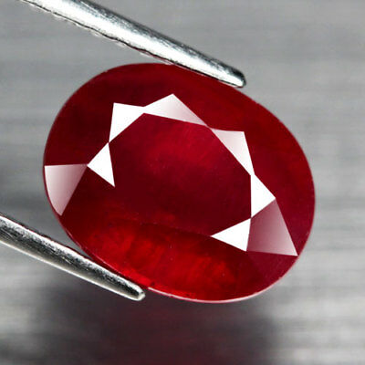 5.79Ct. Elegent! Big! Oval Facet Top Blood Red Natural Ruby Madagascar