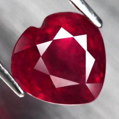 2.77Ct. Captivating! Heart Facet Top Blood Red Natural Ruby Madagascar