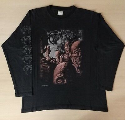 OBITUARY Original Vintage 1997 Back From The Dead Longsleeve Shirt Size XL Used
