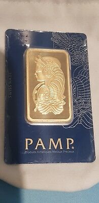 50 grams PAMP Suisse Gold Bar 999.9  in CertiCard with VeriScan