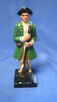 Colonial Revolutionary War Soldier Cast Iron Door Stop Bookend