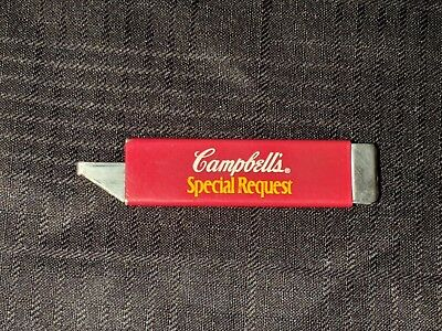Rare Vintage Campbell Soup Advertising Box Cutter