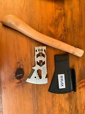 Klecker Knives KLAX Lumberjack Axe Head  KLAX with HANDLE & COVER