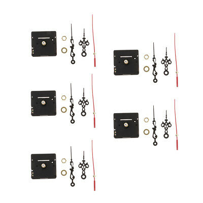 5x Battery Operated Clock Movement -Quartz Wall Clock Repair Flower Pointers