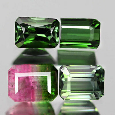 2.91Ct. Glittering! Lot! Octagon Facet Fancy Color Natural Tourmaline Nigeria