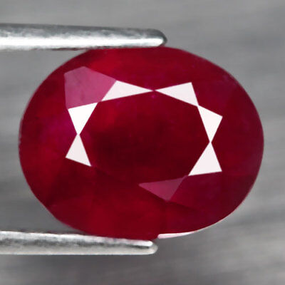 4Ct. Glorious! Oval Facet Top Blood Red Natural Ruby Madagascar