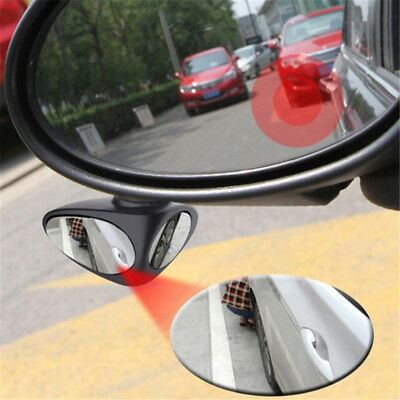 Blind Spot Car Mirror Adjustable Rear Side View Convex Glass 360 Wide Angle TL