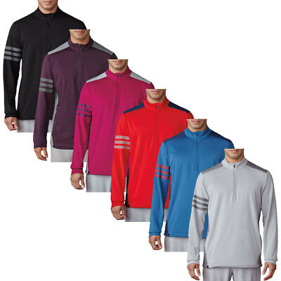 adidas Golf Mens Competition 1/4 Zip Pullover Climacool Stretch Sweater