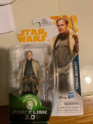 """*** Hasbro Star Wars SOLO TOBIAS BECKETT 3.75"""" ACTION FIGURE *** FORCE LINK 2.0"""