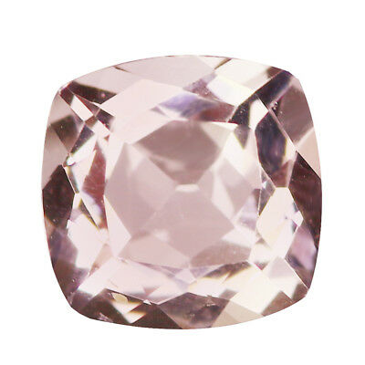 1.29Ct Wonderful Cushion cut 7 x 7 mm 100% Natural Pink Morganite