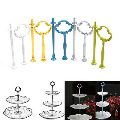 2/3 Tier Cake Plate Stand Flower Hand Fitting Hardware Rod Plate Wedding DecorSE