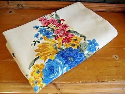 Vintage Floral Tablecloth 50 x 64 Lovely!