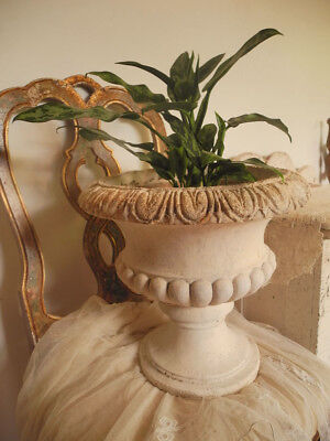 Fab! Large Vintage Plaster Garden URN Planter~Old Time Worn Patina~Shabby Chic