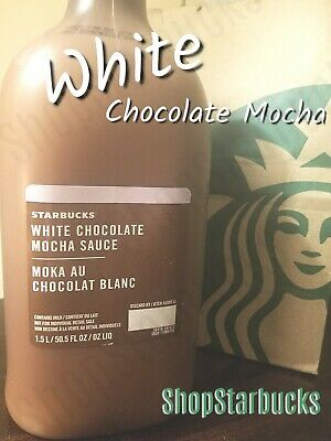 ☆NEW DESIGN☆ Starbucks White Chocolate Mocha Syrup/Sauce Fresh/New Exp 8/17/2019