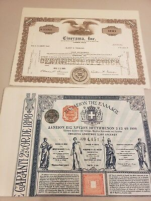 Antique and vintage stock certificate lot