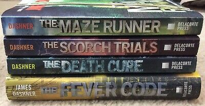The Maze Runner Series 4 Book Lot by James Dashner ~1,2,3,5 ~ Signed ~ Free Ship