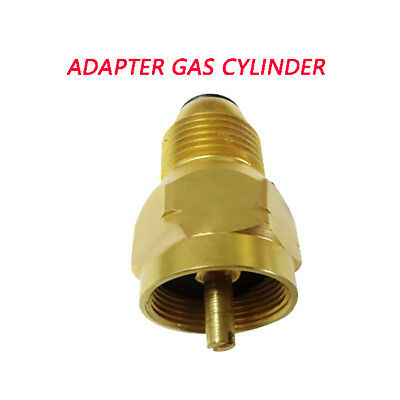 Outdoor Camping Propane Refill Adapter Gas Cylinder Tank Coupler Heater 20-40 LB