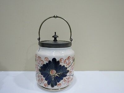 Antique CRACKLE IMARI PATTERN BISCUIT BARREL JAR